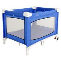 LA Baby® Portable Playard with Wheels in Blue