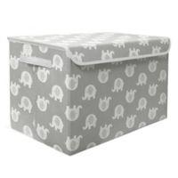 Taylor Madison Designs® Elephant Medium Toy Chest in Grey/White