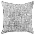 American Colors Brand Textured Square Throw Pillow in Grey