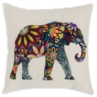 Varaluz Casa Elephant Square Throw Pillow in Dark Blue