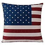 Varaluz Casa American Flag Square Throw Pillow in Red/Blue