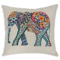 Varaluz Casa Elephant Square Throw Pillow in Light Blue
