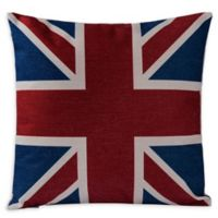 Varaluz Casa Union Jack Square Throw Pillow in Red/Blue
