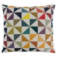 Varaluz Casa Colorful Triangles Square Throw Pillow in Multi