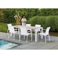 Bellini Home and Gardens 7-Piece Manchester Outdoor Dining Set in White