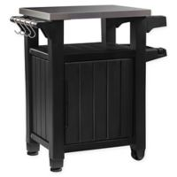 Keter Unity Outdoor Small Prep Table in Graphite