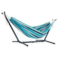 Vivere Hammock and Stand in Sunbrella® Token Surfside