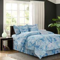 R2Zen Carrera 7-Piece Reversible Full Comforter Set in Blue