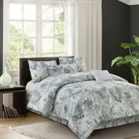 R2Zen Carrera 7-Piece Reversible Full Comforter Set in Grey