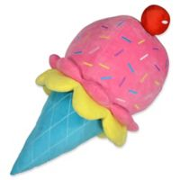 Dream Factory 3D Ice Cream Cone Throw Pillow in Pink