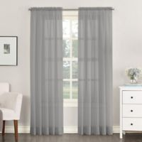Emily 54-Inch Rod Pocket Sheer Window Curtain Panel in Charcoal