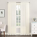 Emily 54-Inch Rod Pocket Sheer Window Curtain Panel in Eggshell
