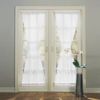 Emily 72-Inch Rod Pocket Sheer Door Panel in White