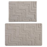 "Castlehill Zigzag 2-Piece 20"" x 30"" and 21"" x 34"" Bath Mat Set in Ivory"