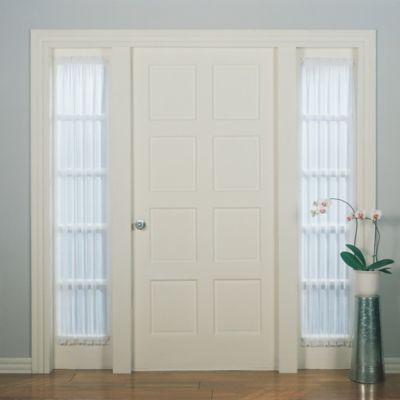Emily 72 Inch Rod Pocket Sheer Sidelight Curtain Panel In White