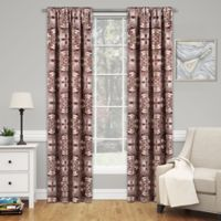 SolarShield® Cavendish 63-Inch Rod Pocket Room Darkening Window Curtain Panel in Brick