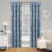 SolarShield® Cavendish 95-Inch Rod Pocket Room Darkening Window Curtain Panel in Indigo