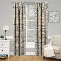 SolarShield® Cavendish 84-Inch Rod Pocket Room Darkening Window Curtain Panel in Ochre