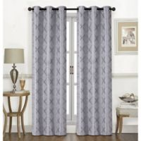 Chandler 84-Inch Grommet Window Curtain Panel Pair in Silver