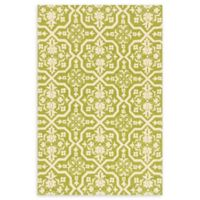 Loloi Rugs Venice Beach 9'3 x 13' Indoor/Outdoor Rug in Peridot/Ivory