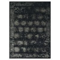 Loloi Rugs Journey Modern Medallion 9'2 x 12'2 Area Rug in Black/Charcoal