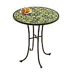 Flower Mosaic 14-Inch All Weather Side Table in Green