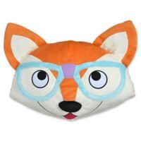 Dream Factory Fox Face Throw Pillow in Orange