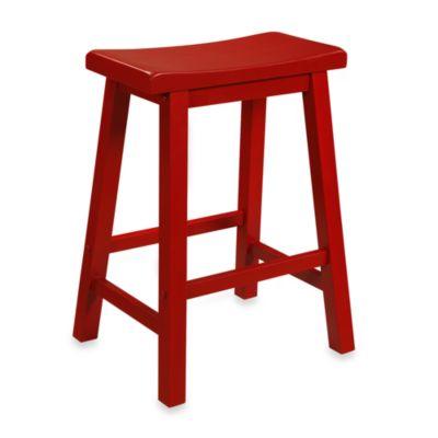 Crimson Red Counter Stool