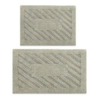 "Diagonal Racetrack 2-Piece 20"" x 30"" and 21"" x 34"" Bath Mat Set in Sage"