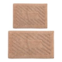 "Diagonal Racetrack 2-Piece 17"" x 24"" and 20"" x 30"" Bath Mat Set in Natural"