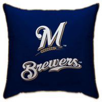 MLB Milwaukee Brewers Logo Throw Pillow
