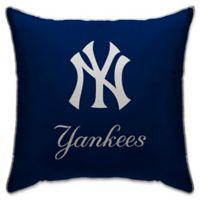 MLB New York Yankees Logo Throw Pillow