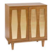 INK+IVY Bryn 2-Door Accent Cabinet in Pecan/Gold