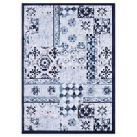 VCNY Home Patchwork 5' x 7' Area Rug in Blue