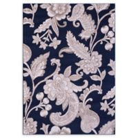 VCNY Home Swirl Floral 2' x 3' Accent Rug in Navy
