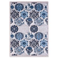 VCNY Home Framed Floral 2' x 3' Accent Rug in Navy