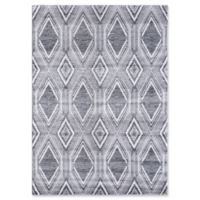 VCNY Home Ikat 2' x 3' Accent Rug in Grey