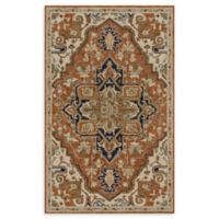 Loloi Rugs Underwood Center Medallion 5' x 7'6 Handcrafted Area Rug in Rust/Stone