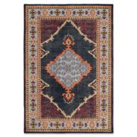 Safavieh Casey Damask 4' x 6' Area Rug in Blue
