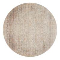 Magnolia Home by Joanna Gaines Ella Rose 7'7 Round Area Rug in Bone/Multi