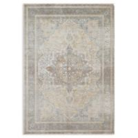 Magnolia Home by Joanna Gaines Ella Rose 5'3 x 7'6 Area Rug in Stone/Blue
