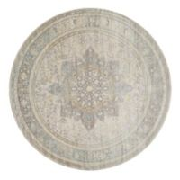 Magnolia Home by Joanna Gaines Ella Rose 7'7 Round Area Rug in Stone/Blue