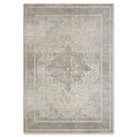 Magnolia Home by Joanna Gaines Ella Rose 9'3 Round Area Rug in Stone/Blue