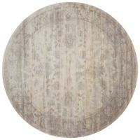 Magnolia Home by Joanna Gaines Ella Rose Loomed 7'7 x 7'7 Area Rug in Stone