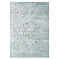 Magnolia Home by Joanna Gaines Ophelia 9'6 Round Area Rug in Grey/Aqua