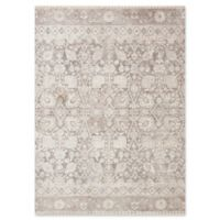 Magnolia Home by Joanna Gaines Ophelia Loomed 9'6 Round Area Rug in Grey/Taupe