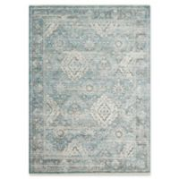 Magnolia Home by Joanna Gaines Ophelia 9'6 Round Area Rug in Aqua/Grey