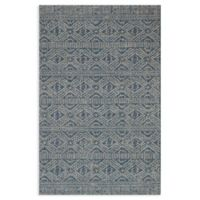 Magnolia Home by Joanna Gaines Warwick 7'10 x 10'9 Indoor/Outdoor Area Rug in Azure/Silver