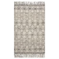Magnolia Home by Joanna Gaines Holloway Fringe 5' x 7'6 Area Rug in Grey