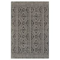 Magnolia Home by Joanna Gaines Warwick 2' x 3'9 Indoor/Outdoor Accent Rug in Black/Silver